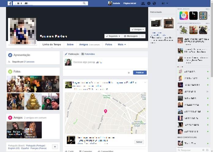 Entre no perfil do usuário que deseja ativar o função Dê um tempo (Foto: Reprodução/Isabela Giantomaso)