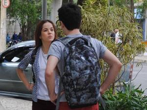 Morgana diz a Rafael que está com ciúmes de Rita (Foto: Malhação / Tv Globo)