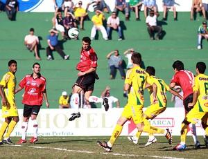 Brasil de Pelotas e Mirassol empataram em 2 a 2 pela Série D (Foto: Bê Caviquioli, Divulgação)