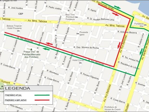Linha de ônibus sofre alteração em Fortaleza (Foto: Foto: Etufor)