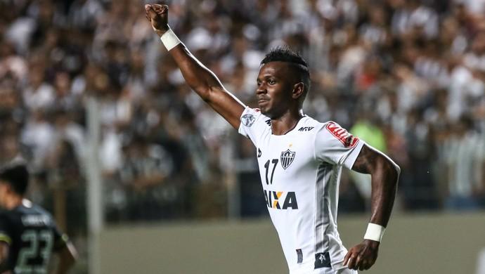 Hyuri comemora o gol contra o Colo-Colo; Libertadores (Foto: Bruno Cantini/ Flickr Atlético-MG)