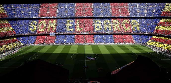 Mosaico Barcelona Final (Foto: Agência EFE)