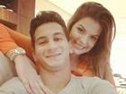 Ganso posta foto com a noiva: 'Eu e o meu amor'