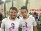 Amigos e familiares homenageiam Cristiano Araújo em partida de futebol