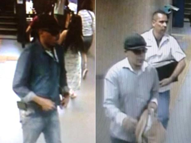 Fotos mostram suspeitos de morte em estação de metrô Uruguaiana (Foto: Reprodução/TV Globo)
