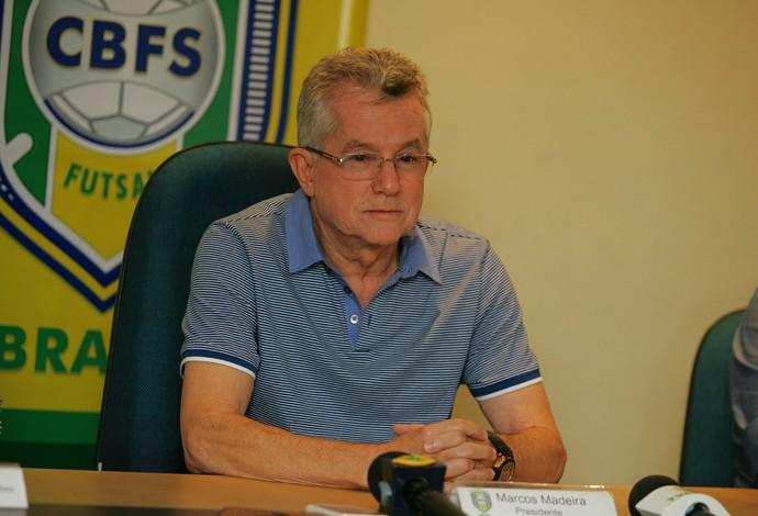 Marcos Madeira, presidente, CBFS, futsal (Foto: Kid Júnior/Agência Diário)