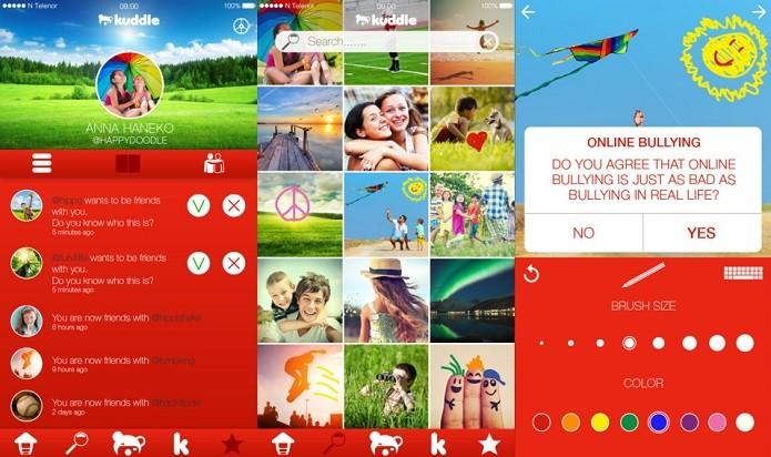 Kuddle: rede social semelhante ao Instagram e segura para crianças (Foto: Divulgação/AppStore)