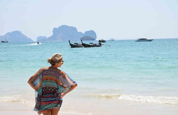 O marido de Lala é quem tira as fotos em que ela aparece (Foto: Reprodução/Lala Rebelo Travel Blog)