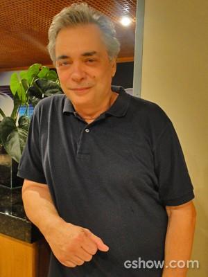 José Rubens Chachá é Diogo, pai de Marina (Foto: Em Família/ TV Globo)