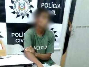 Suspeito confessa assassinato de professor em Porto Alegre (Foto: Reprodução/Polícia Civil)