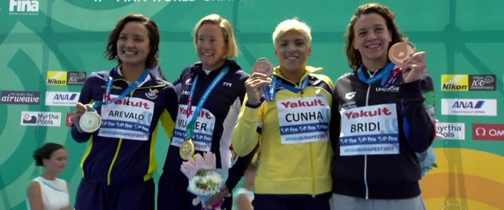 Ana Marcela Cunha conquista o bronze na maratona aquática do Mundial de Esportes Aquáticos