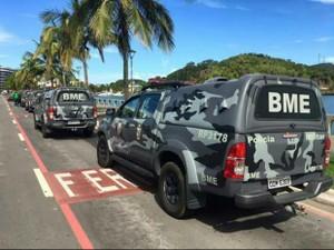 Governo diz que 17 viaturas foram retiradas do Batalhão de Missões Especiais (Foto: Divulgação / Sesp)