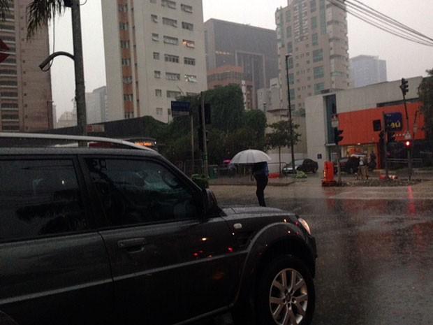 Chuva coloca regiões de São Paulo em estado de atenção (Foto: Roney Domingos/G1)