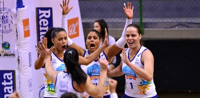 Osasco, Vôlei, comemora, Campeonato Paulista (Foto: João Pires / Fotojump)