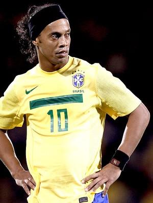 Ronaldinho Gaúcho na partida da Seleção Brasileira (Foto: Getty Images)