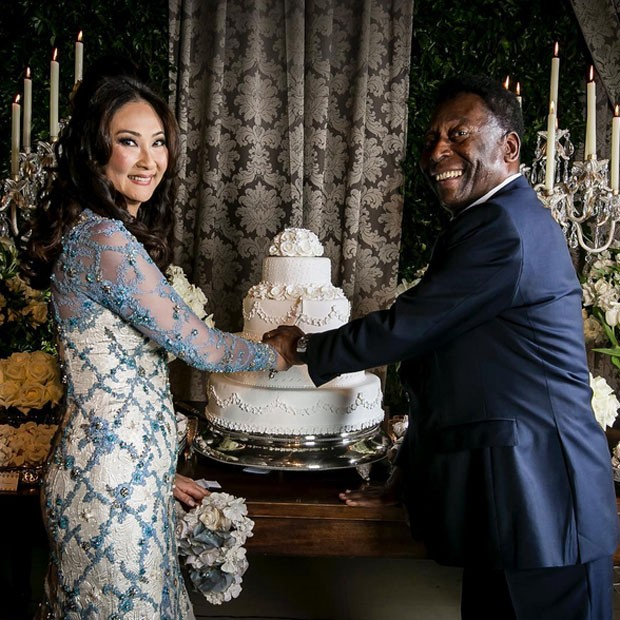Pelé se casa com a empresária Marcia Cibele Aoki no Guarujá, litoral sul de São Paulo (Foto: Instagram/ Reprodução)