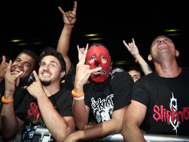 Público no show do De La Tierra no Rock in Rio (Foto: Fabio Tito/G1)