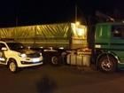 Caminhão é apreendido na Castello com produtos do Paraguai, diz polícia
