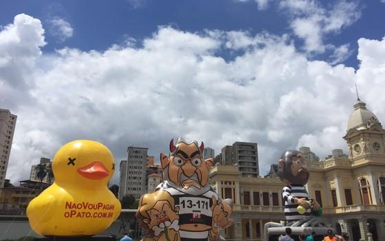"""Pato da """"Fiesp""""em Belo Horizonte (Foto: Reprodução )"""