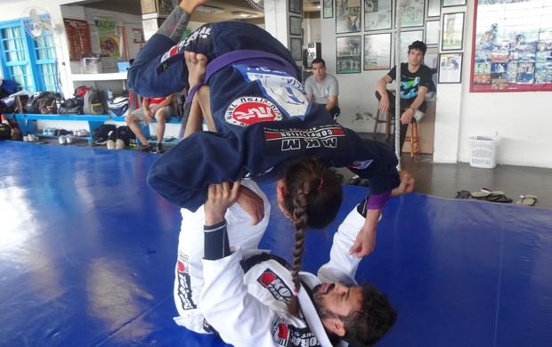 Monique Elias foi treinada por Mario Reis e já é octacampeã mundial (Foto: Paula Menezes/Globoesporte.com)