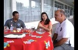 Flávia Araújo recebe ídolos de Remo e Paysandu para bate-papo animado