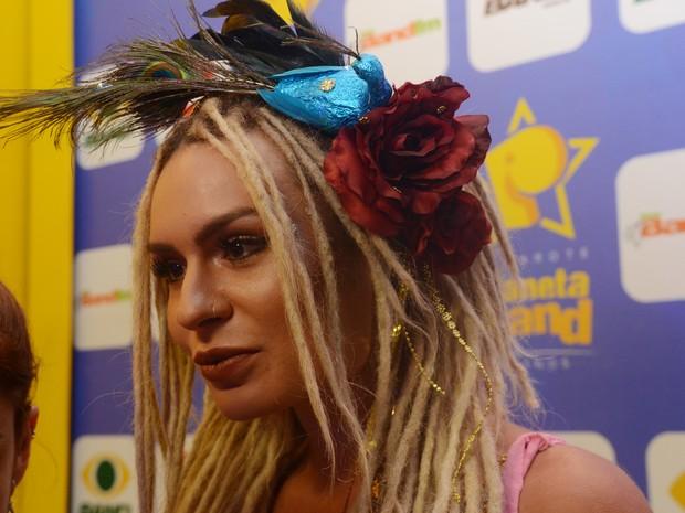 Fernanda Lacerda, a Mendigata, em camarote no circuito Barra-Ondina em Salvador, na Bahia (Foto: Márcio Reis /Ag. Haack)