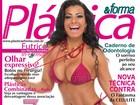 Cinthia Santos, madrinha da Águia de Ouro, posa de biquíni para revista
