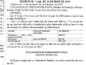 Decreto foi publicado no Semanário de 30 de maio. (Foto: Reprodução)