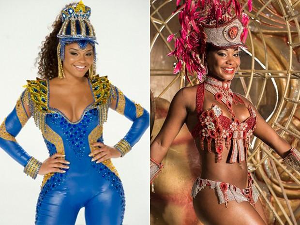 Compare Juliana Alves com a coleguinha Luana Bandeira (Foto: Gshow)