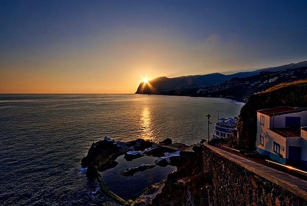 O pôr do sol na Poça do Gomes  (Foto: Reprodução)