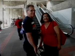 Adriane postou foto antes de embarque e disse que estava 'se sentido maravilhosa' (Foto: Reprodução/RBS TV)