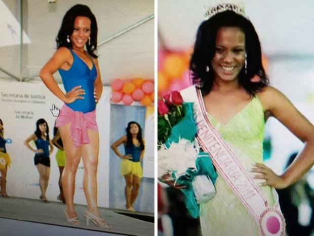 Ex-miss penitenciária presa suspeita de roubo no Núcleo Bandeirante (Foto: Polícia Civil/Divulgação)