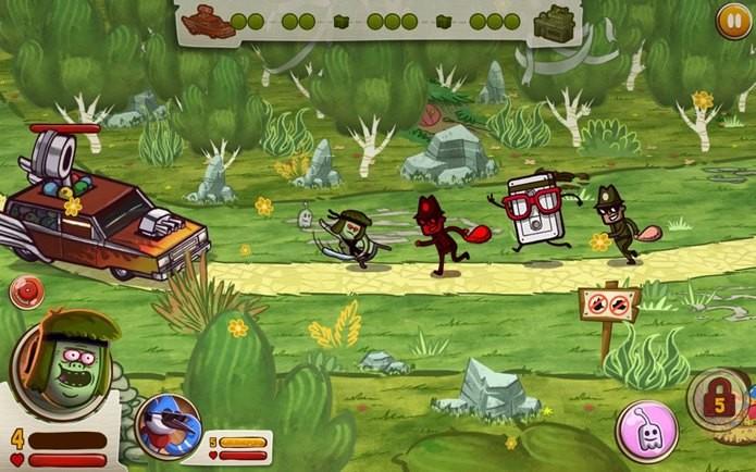 Jogo do desenho Apenas um Show foi produzido no Brasil e está em português (Foto: Divulgação)