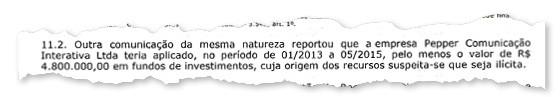 Relatório do Coaf (Foto: reprodução)