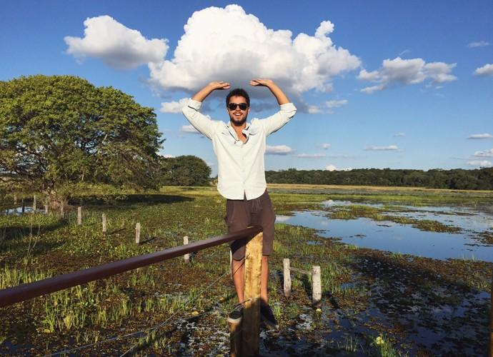 Rodrigo Simas mostra paisagem no Pantanal (Foto: Arquivo Pessoal)