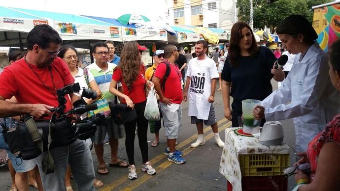 Ação de lançamento Haja Coração (Foto: Ana Paula Novaes)