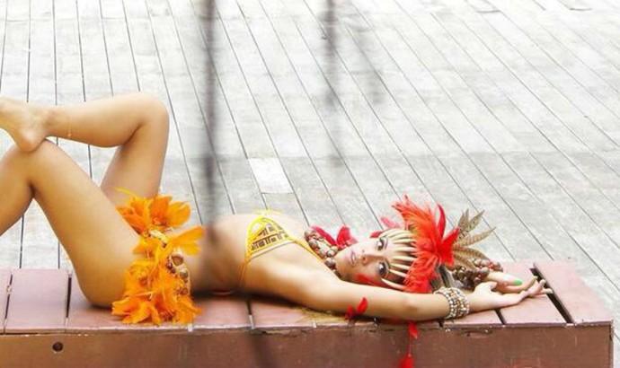 Ring girl amazonense, Adriellem Martins (Foto: Divulgação/Taywana Martins)