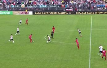 Sem sustos, Paulista goleia Batatais e chega 100% à final da Copa São Paulo