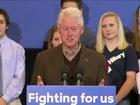 Bill Clinton realiza primeiro ato de campanha sozinho em apoio a Hillary