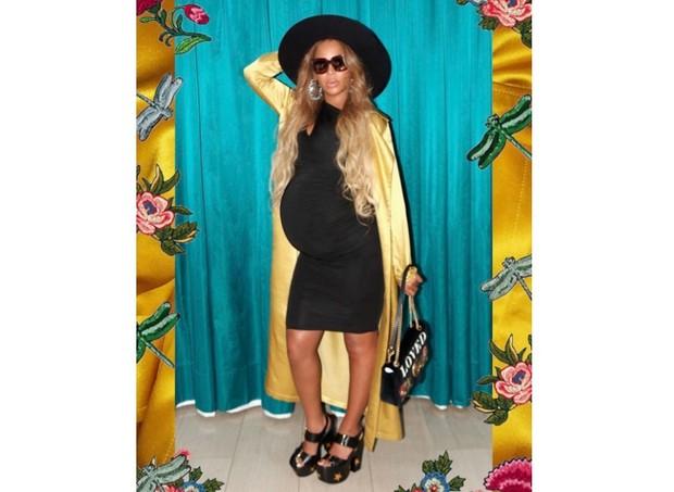 Beyoncé espera por gêmeos. Sexo dos bebês ainda não foi revelado.  (Foto: Reprodução/Instagram)