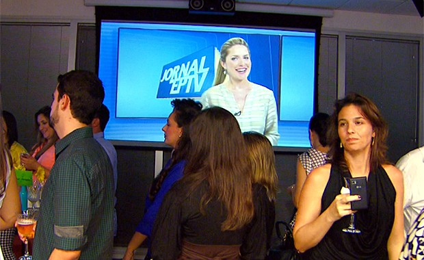 Evento em Campinas lançou as novidades na programação da TV Globo e EPTV para 2014 (Foto: Reprodução / EPTV)