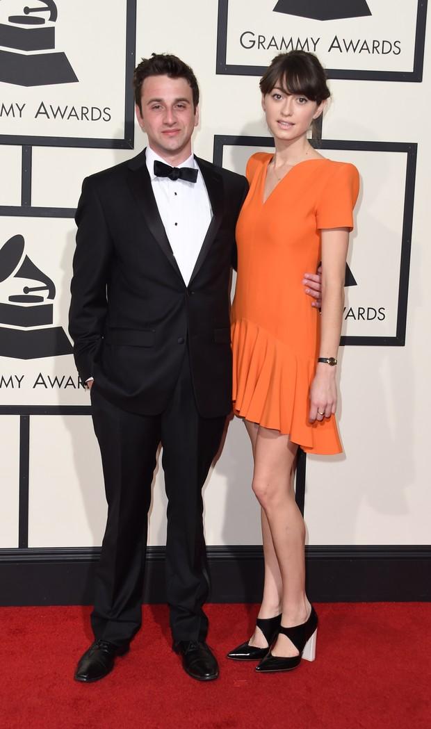 Justin Hurwitz e a namorada no Grammy 2016 (Foto: Getty Images)