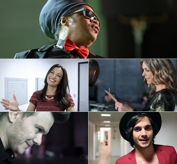 Carlinhos Brown, Patrícia Poeta, Fernanda Lima, Michel Teló e Fiuk contam o que vem_aí para eles (Foto: Globo)