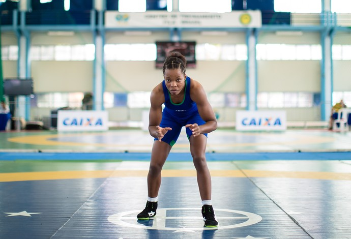 Joice Silva luta olímpica (Foto: Renato Sette/CBW)