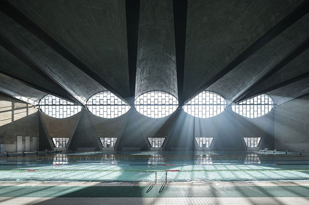 Terrence Zhang from China with his photo of the Swimming Pool, New Campus of Tianjin University, China by Atelier Li Xinggang, is announced as the winner of the Architectural Photography Awards 2017 sponsored by Sto, at the World Architecture Festival in  (Foto: Photo credit should read: Terren)