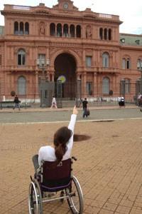 Michele em viagem à Argentina (Foto: Michele Simões/Arquivo pessoal)