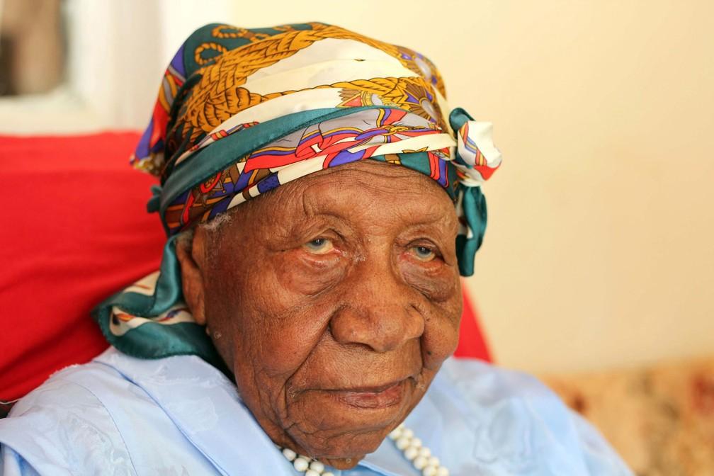 A jamaicana Violet Brown (Foto: Raymond Simpson/AP)