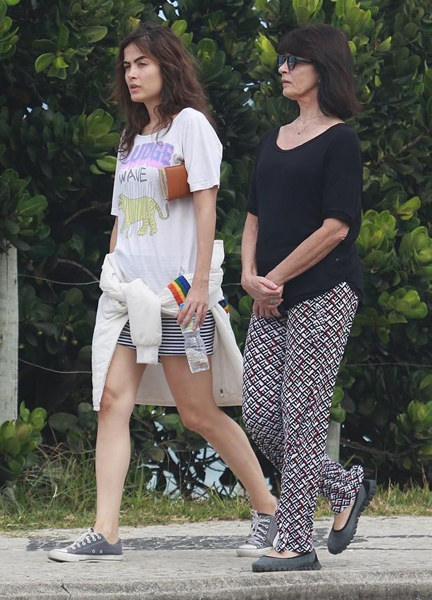 Maria Casadevall e a mãe, Teresa (Foto: Dilson Silva/ AgNews)