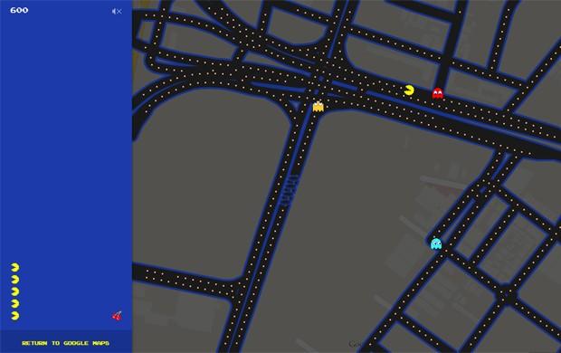 Ruas de São Paulo viram labirintos de 'Pac-Man' dentro do Google Maps (Foto: Reprodução/Google)