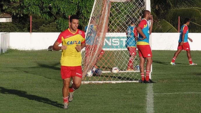 Júnior Timbó - meia do América-RN (Foto: Carlos Cruz/GloboEsporte.com)